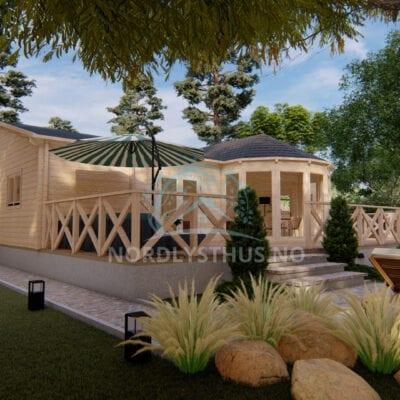 Stor hytte byggesett Lucia